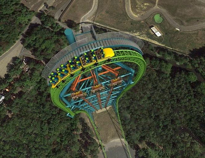 Zumanjaro: Drop of Doom é a maior montanha-russa do mundo.