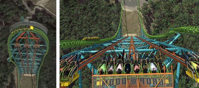 2.  Zumanjaro, Gota of Doom, Six Flags New Aventura, New Jersey