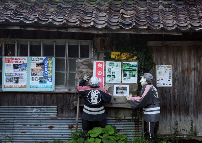 Scarecrows Illustrate Lives Of Japanese Countryside