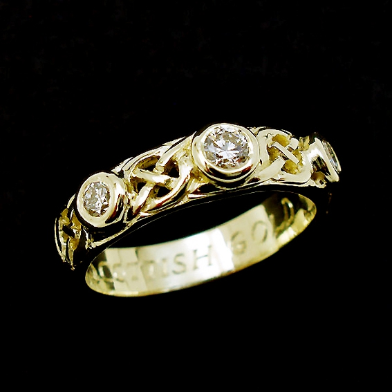 Scots gold wedding ring