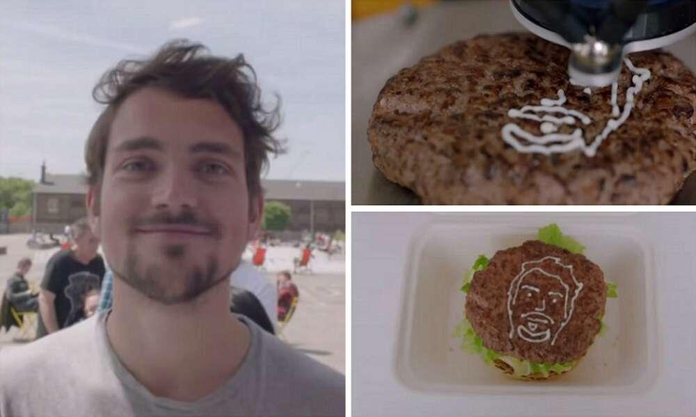 Empresa imprime rosto de clientes em hambúrgueres