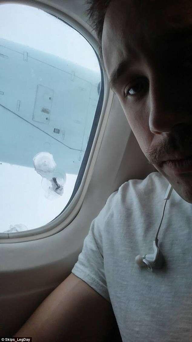 Passageiro fotografa momento aterrorizante em que parafuso se solta de hélice de avião