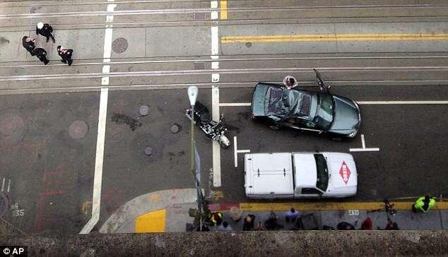 Limpador de janelas cai de edifício de 11 andares e escapa com vida