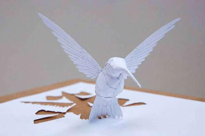 Arte com papel em 3D