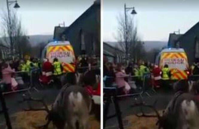 Papai Noel é preso e deixa crianças aos prantos