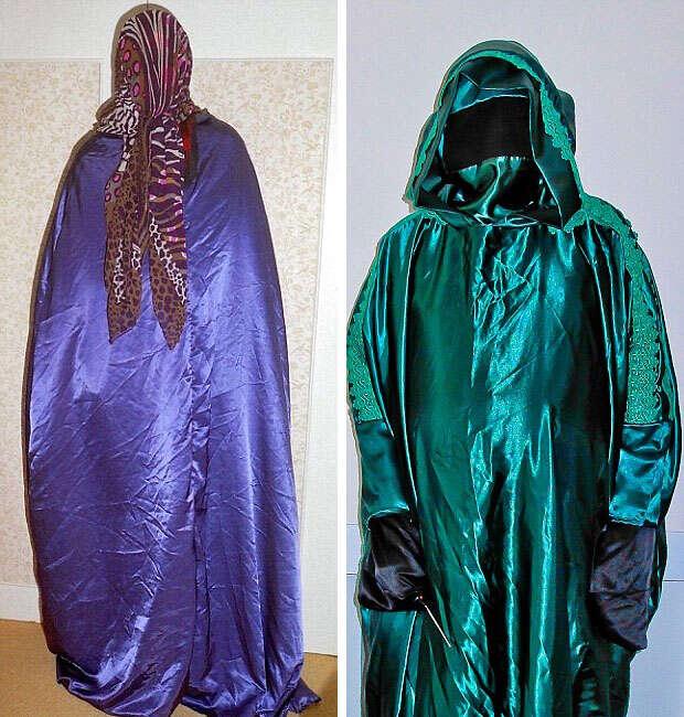 Idoso misterioso se esconde sobre roupas estranhas