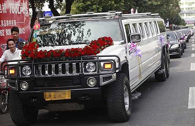 More Than Twenty 100,000 GBP Motors Used In Bridal Convoy