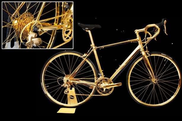 Conheça a bicicleta de ouro