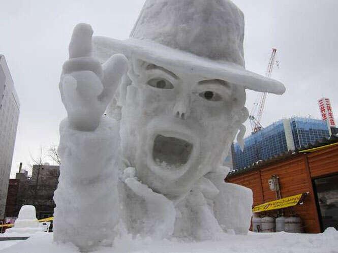 Incríveis esculturas feitas na neve