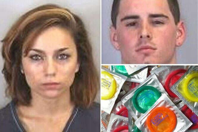 Mulher ataca namorado com caixa de preservativos