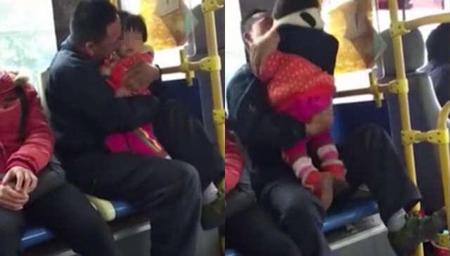 Vídeo de homem homem beijando e acariciando criança dentro de ônibus vem causando polêmica