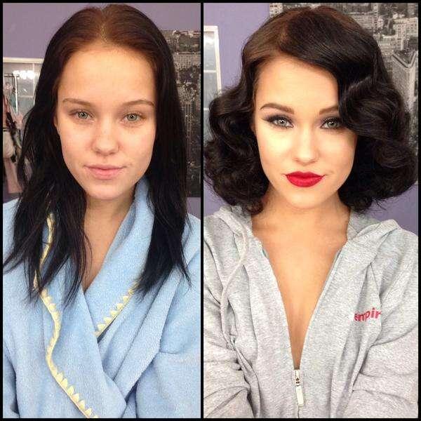 Como são os atores e atrizes defilme adulto com e sem maquiagem
