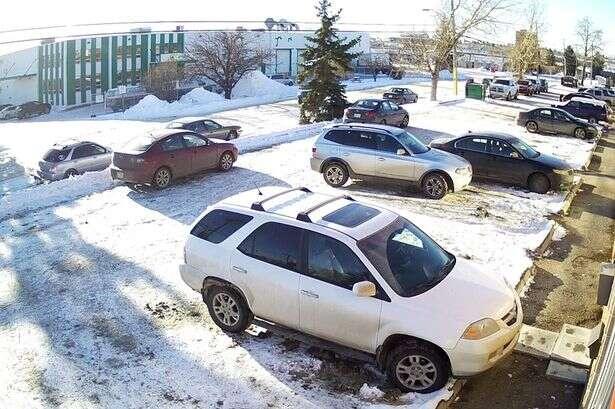 Motorista se enrola para tirar veículo de estacionamento