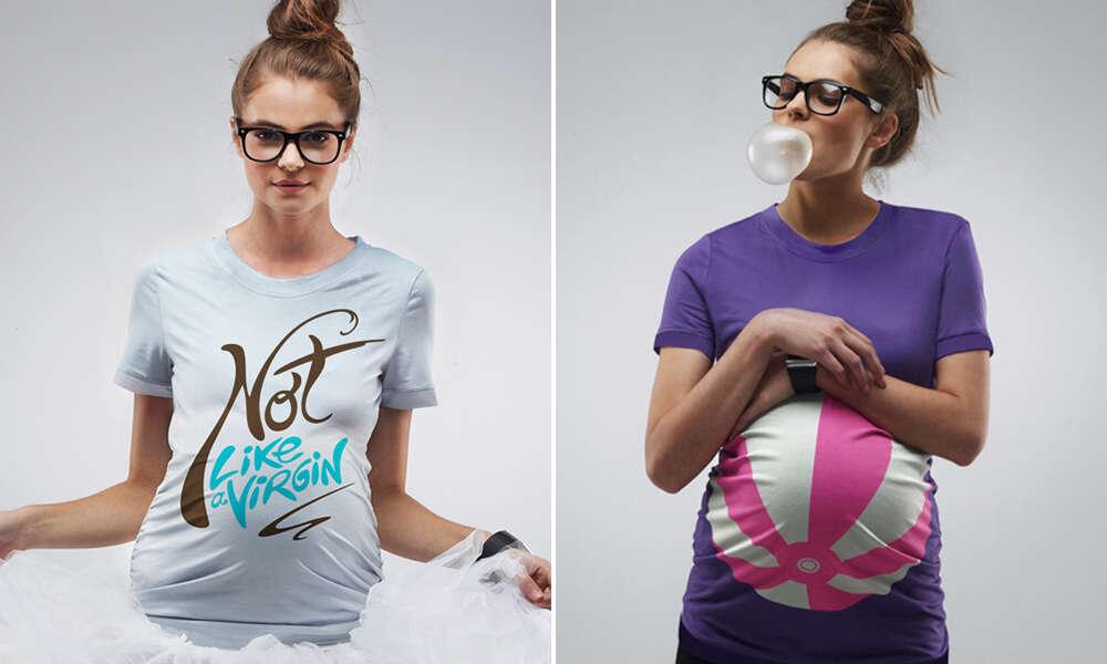 Roupas divertidas para grávidas