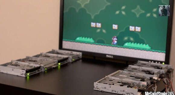 Programador recria trilha sonora de Mario World usando disquetes