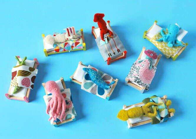 Criaturas do mar em tricô