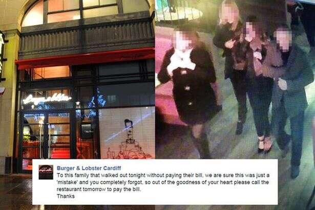 Restaurante divulga foto de família que comeu e não pagou