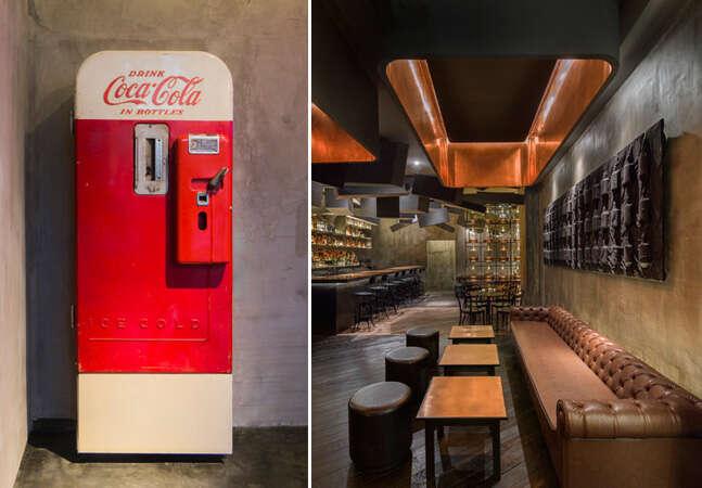 Bar secreto se esconde atrás de uma geladeira