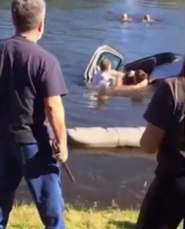 Resgate em lago