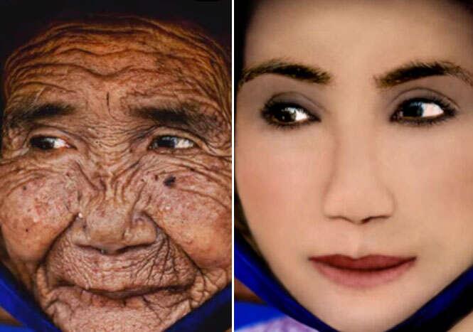 Mulher de 100 anos de idade ganha aparência de 20 com ajuda de Photoshop