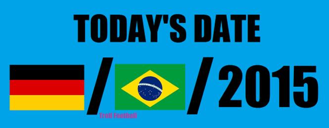 7 de janeiro gera piada com derrota do Brasil para Alemanha