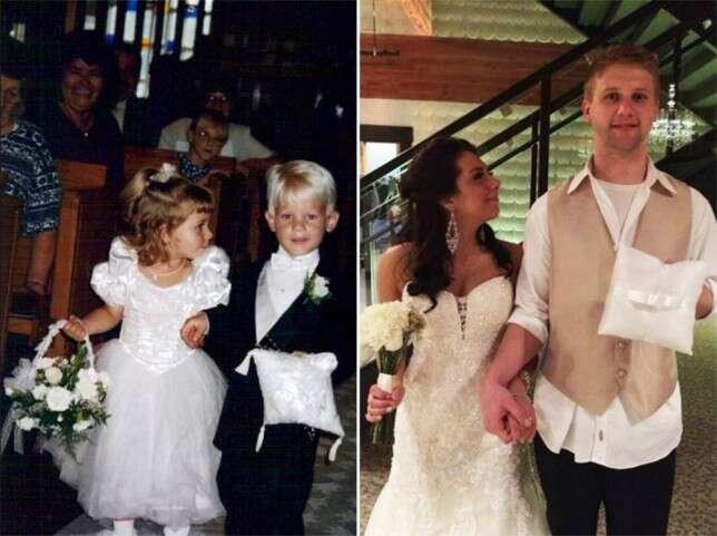 Jovens que levaram aliança e buquê em casamento quando tinham 3 anos de idade, se casam anos depois