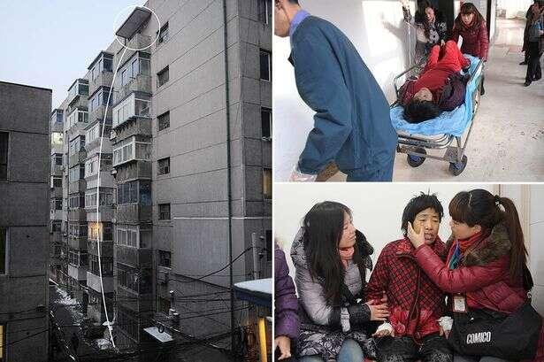 Mulher cai do 8º andar de prédio e sobrevive