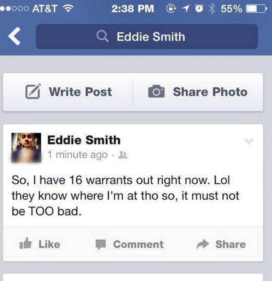 Jovem se gaba no Facebook de ter 16 mandados de prisão e continuar livre e acaba localizado pela polícia