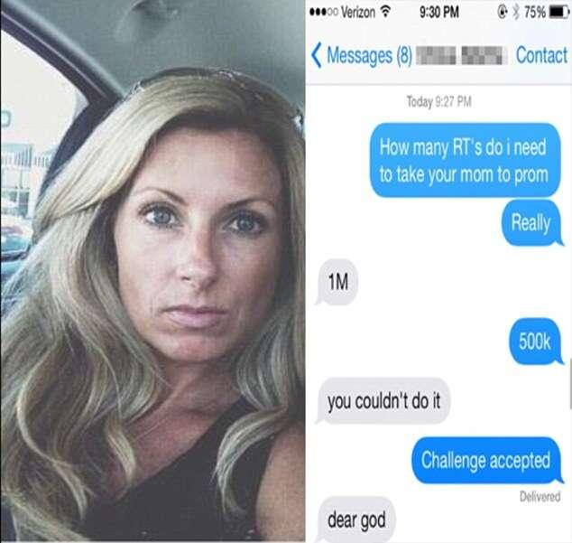Garota desafia amigo a alcançar popularidade na internet colocando sua mãe atraente como prêmio