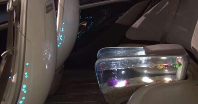 Montadora chinesa lança carro com aquário de peixes