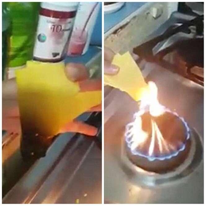 Vídeo repercute na internet ao mostrar queijo cheddar pegando fogo quando deveria derreter