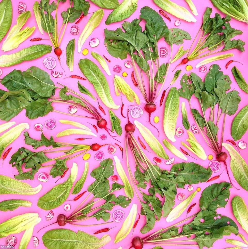 Artista cria lindas obras de arte com frutas e legumes