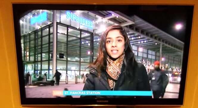 Motoqueiro é flagrado atropelando pedestre durante reportagem ao vivo na TV