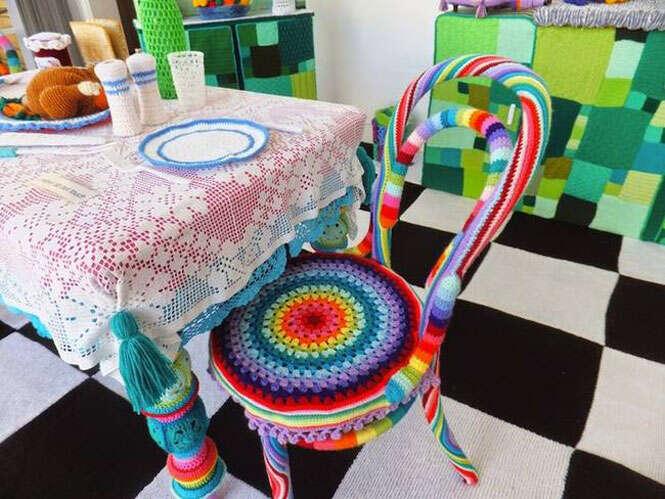 Cozinha toda feita de bordados é criada por artistas na Austrália