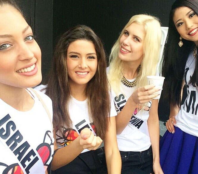 Selfie de Miss Israel ao lado de Miss Líbano causa indignação