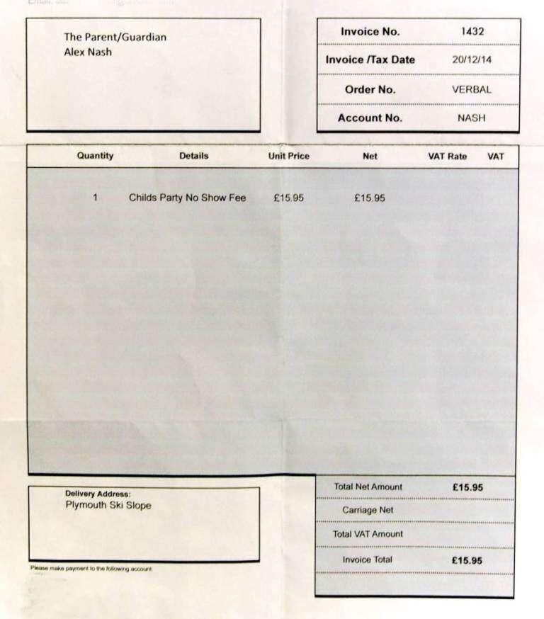 Menino de 5 anos falta a festinha de amigo e família recebe conta de R$ 63