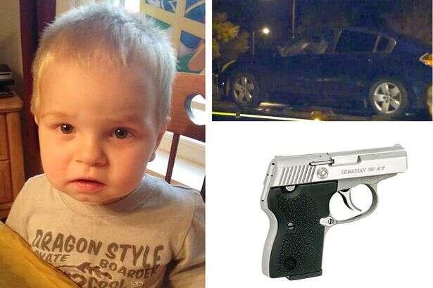 Menino de dois anos morre após atirar no próprio peito comarma encontrada no porta-luvas do carro da família