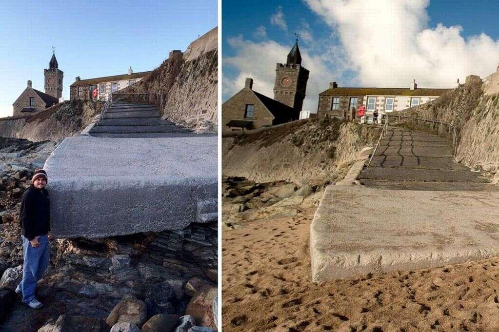Maré alta retira toda areia de praia mas devolve tempos depois