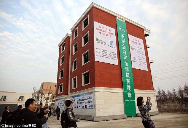 Nova tendência na China são as casas feitas em impressoras 3D