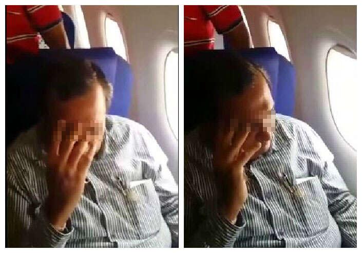 Mulher envergonha homem dentro de avião após ser tocada por ele durante voo