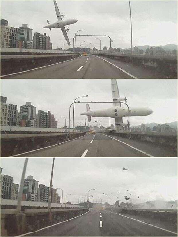 Vídeo registra momento em que avião da TransAsia cai em rio e deixa dezenas de mortos
