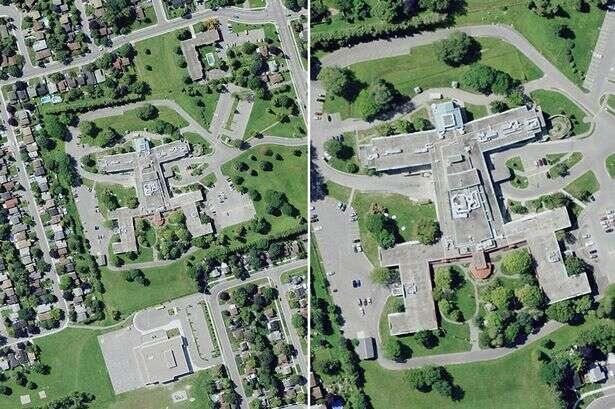 Imagem aérea de hospital em formato de homem com pênis de fora causa repercussão na internet