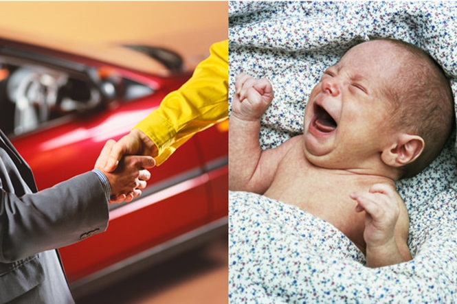 Pais são presos após tentarem trocar bebê por carro usado