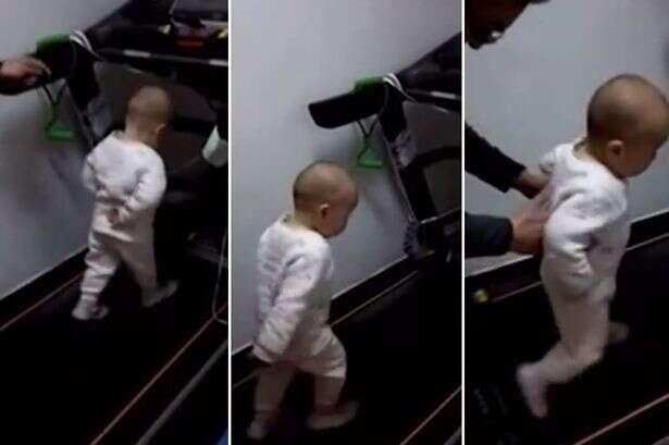 Vídeo de pais de bebê de um ano fazendo com que ele corresse cada vez mais rápido em esteira causa repercução na web