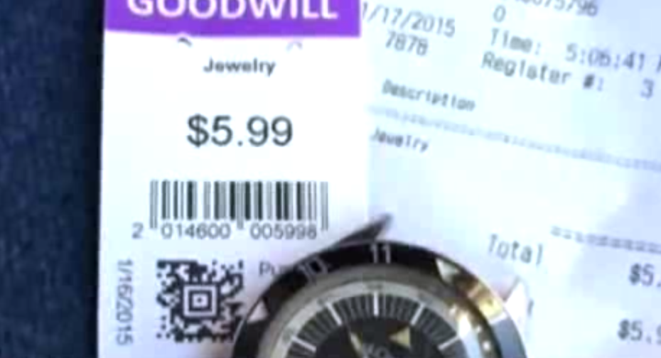 Relógio barato é vendido por uma fortuna