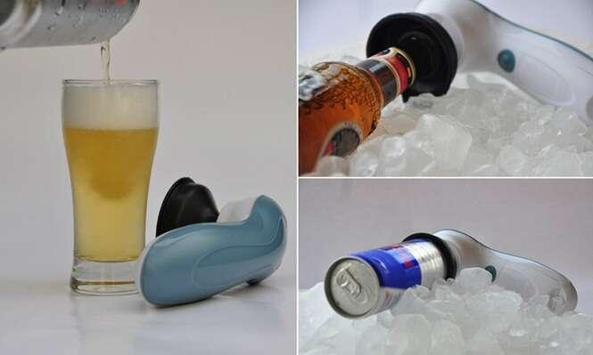 Dispositivo inovador gela cerveja em apenas dois minutos