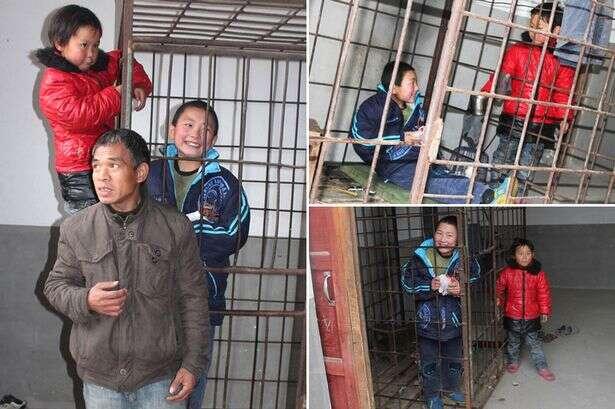 Pai mantém filho de 12 anos vivendo dentro de gaiola para proteger os vizinhos