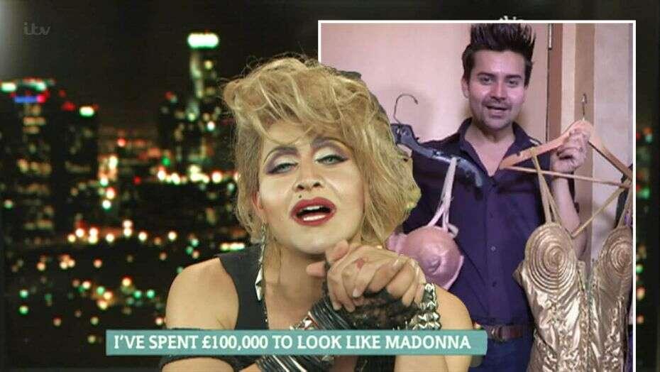 Homem gasta 440 mil reais para se parecer com a Madonna