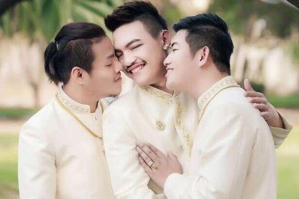 Três homens se casam na Tailândia no primeiro casamento gay do tipo no mundo