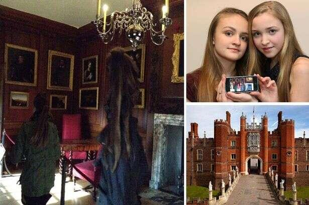 Menina fotografa fantasma em palácio inglês